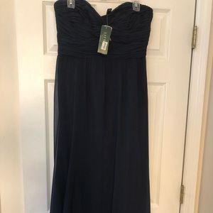 Never worn, Ralph Lauren strapless gown